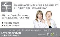 Emplois chez Pharmacie Mélanie Légaré et Audrey Bellemare